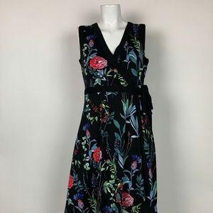 Tommy Hilfiger Dress Floral Wrap Sleeveless Sz 4